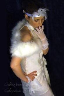 фото белое платье в стиле 20-х для взрослых