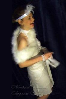 фото белое платье в стиле 20-х женское