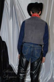 костюм ковбоя фото вид со спины