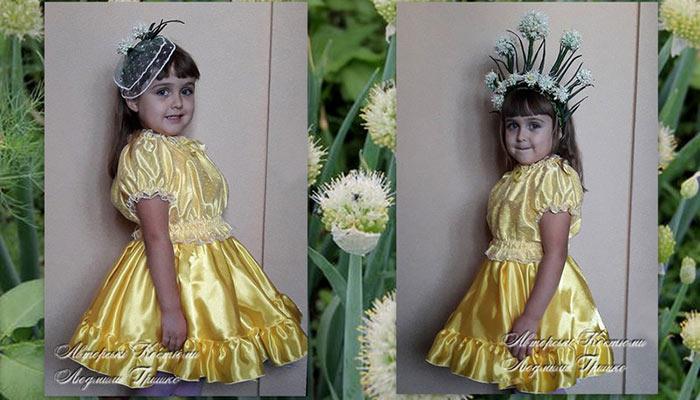 авторский карнавальный костюм лука с венком или ободком для девочки фото 36