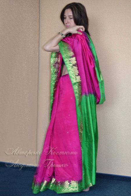 национальная одежда индии - чоли и сари шелковое