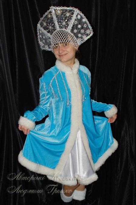 авторский костюм снегурочки ручной работы