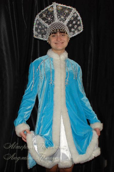 костюм снегурочка в кокошнике ручной работы