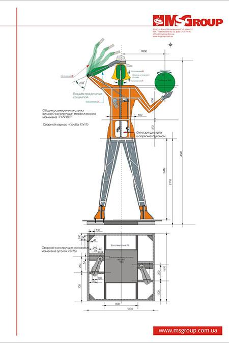 схема пятиметровой куклы Гулливера из универмага Детский Мир