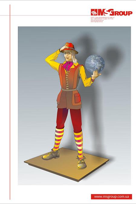 Эскиз гигантского костюма Гулливера