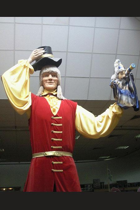 гигантский костюм Гулливера в ТРЦ Детский Мир