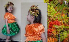 костюм горобина для девочки на праздник осени