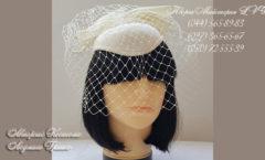 шляпка с бантом и вуалью - свадебные аксессуары