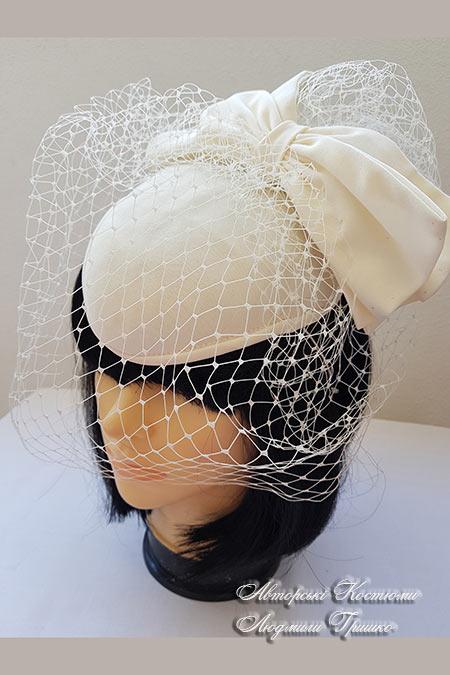 вечерняя шляпка с вуалью