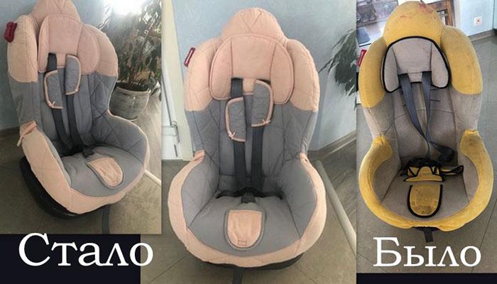 сменные эко чехлы на детские авто кресла и перетяжка детских автокресел