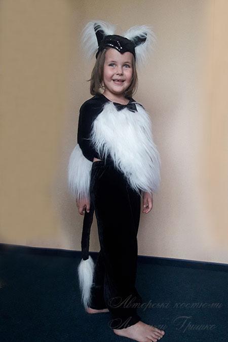 костюм кошки на хэллоуин для девочки