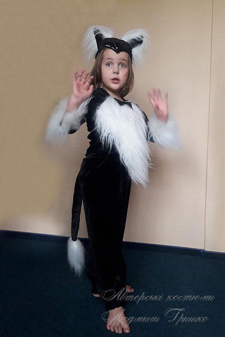 костюм кошки для девочки на хэллоуин