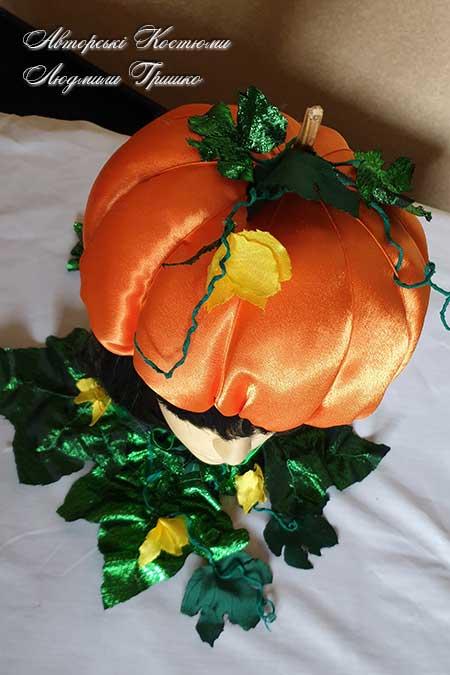шапочка тыквы вид сверху