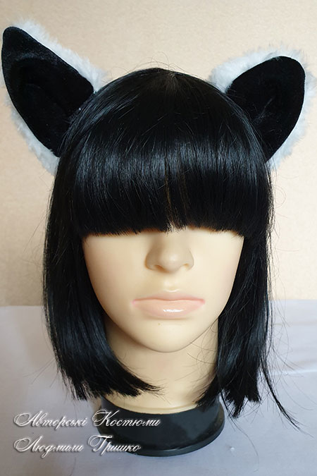 ушки кошки на обруче для волос