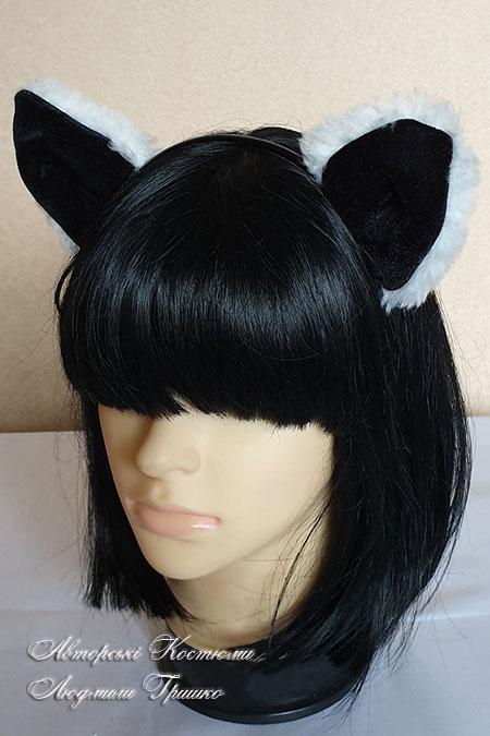 уши кота на ободке для волос