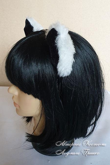 ушки кота - вид сбоку
