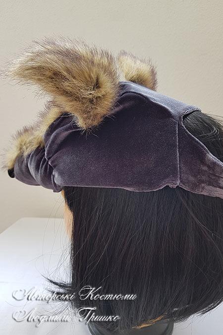 шапочка волка вид сзади