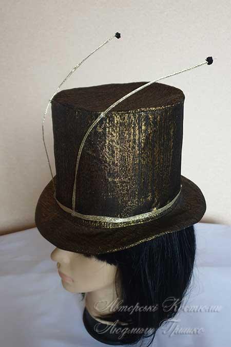 шляпа цилиндр с усами сверчок