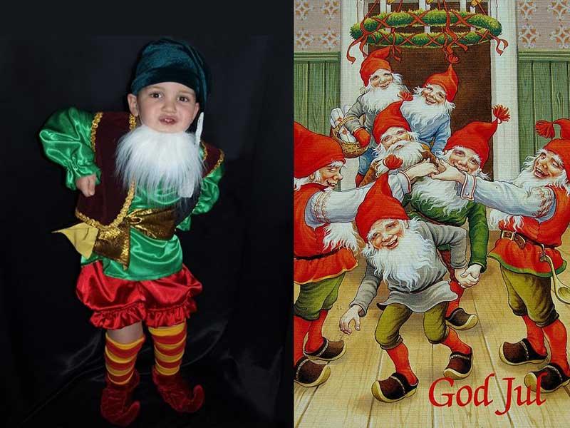 рождественский гном костюм карнавальный