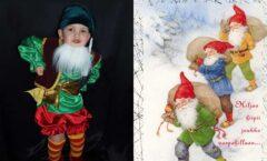 костюм рождественского гнома для мальчика