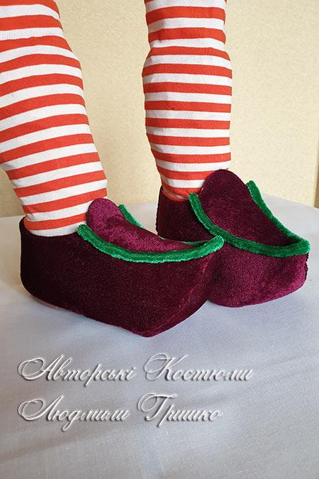 детская карнавальная обувь под костюм рождественского гнома