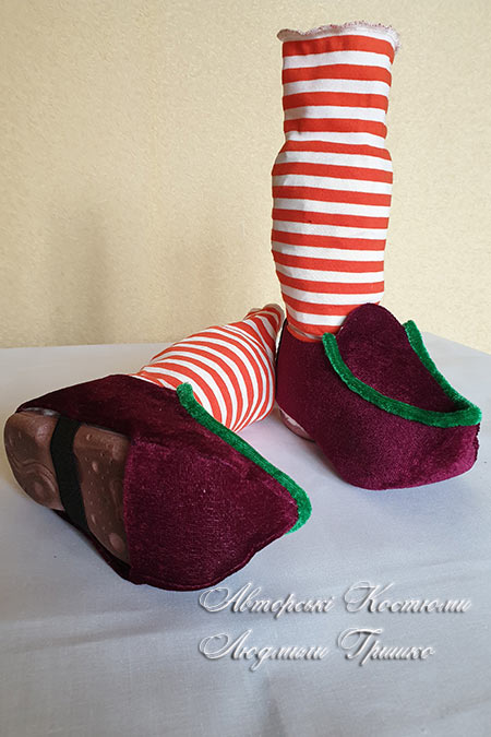 башмаки рождественского гнома - карнавальные аксессуары