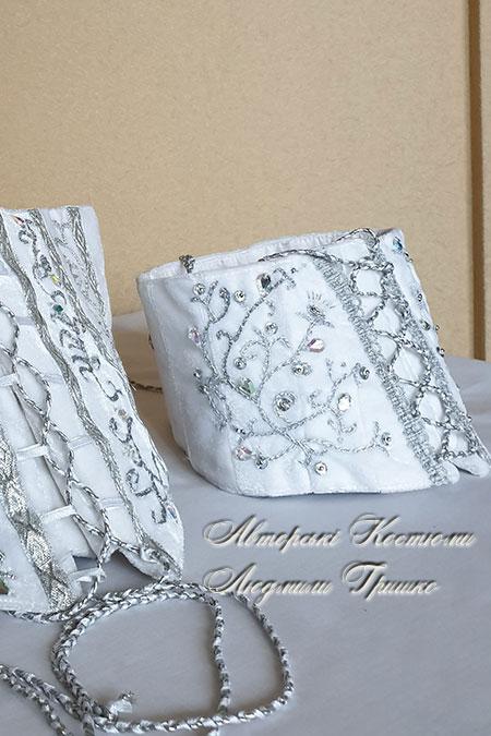 корсет снегурочки для девочки (ручная вышивка)