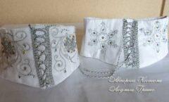корсет снежинки с ручной вышивкой