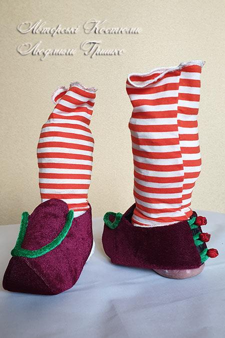 карнавальные сабо под костюм рождественского гнома