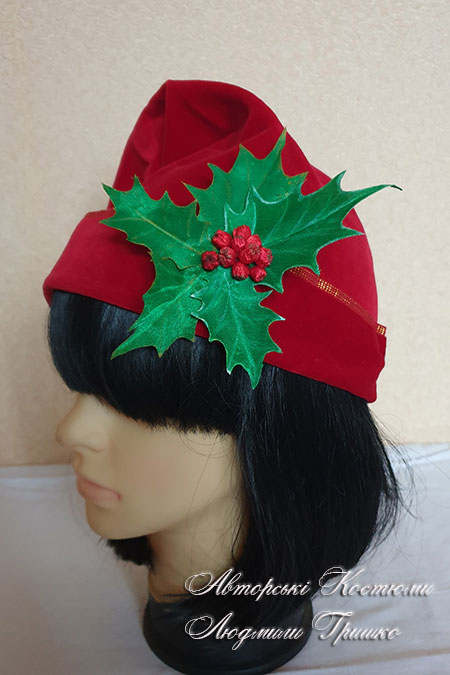 шапка под костюм рождественского гнома эльфа