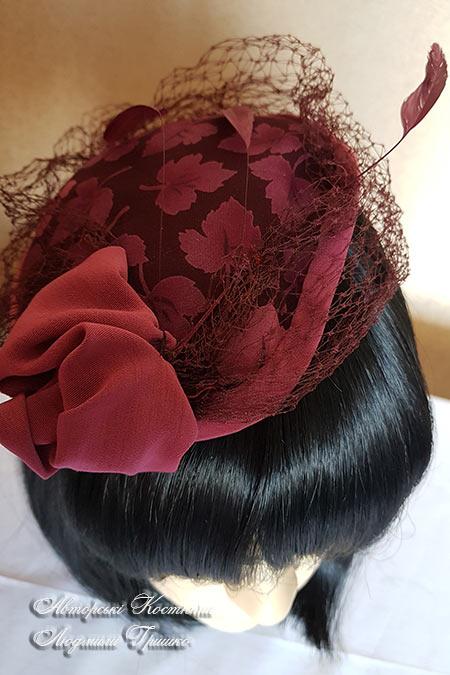 шляпка с вуалью - аксессуары карнавальные